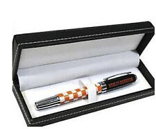 Harley-Davidson Refillable Orange Checkered Ink Pen with Gift Box HDL-20113