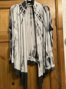 A Lovly Long Tie Dye Open Cardigan  By Select Size Small 12