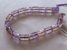 "8"" Strand Light Ametrine Gemstone Faceted & Carved Round Barrel Beads 8x11mm"