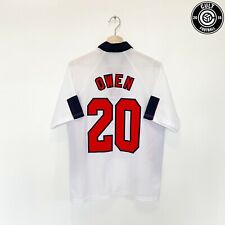 1997/99 Owen #20 Inglaterra Vintage Umbro Hogar Camiseta de fútbol (M) 1998 Liverpool