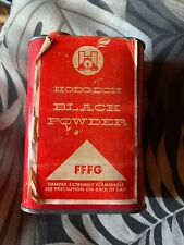 Vintage Hodgdon Black Powder Tin Can Fffg N.R.A. Scotland Paper Label Empty! Nra