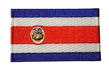 COSTA RICA Country Flag IRON-ON PATCH CREST BADGE ..SIZE : 1.5 X 2.5 Inch..New