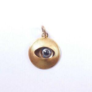 Evil Eye Charm Pendant 9 carat gold