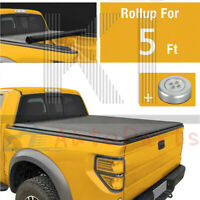 5 Ft Bed Soft Roll-Up Over Bed Rail Tonneau/Bed Cover For 2019 2020  FORD RANGER