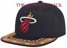 J10 • Miami Heat A-Threads Hat / Cap • NWT Adult Snapback Black / Multi • #27335
