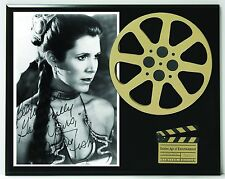 """Carrie Fisher Limited Edition Reproduction Signature & Film Reel Display """"K1"""""""