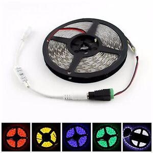 12V 5M/16.4ft 5050 SMD 300 LED Flexible Strip Light+Mini Controller + 5A Power
