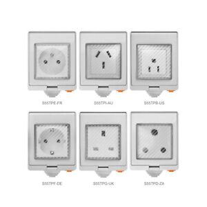 SONOFF S55 WIFI Smart Waterproof Socket Plug Wireless APP Control Home eWeLink