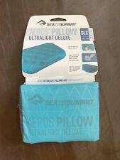 Sea To Summit Aeros Ultralight Deluxe Pillow In Sea Foam $59.99