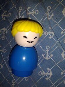 Large Little People Blonde woman Blue dress