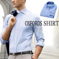 Dress Shirts Men's Regular Fit Oxford Long Sleeve One Pocket Solid Color Shirt