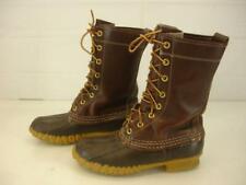 Womens 3 N Bean Boots by L.L.Bean Maine Hunting Shoe Brown Waterproof Tall Rain