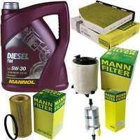 Motor Oil 5L Mannol Diesel Tdi 5W-30 + Mann Filter Audi A3 8P1 2.0 FSI