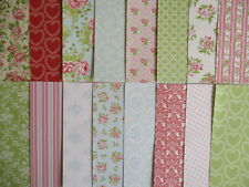 """Sample pack - Pretty Posy 6x6"""" scrapbook backing papers x 16 - rose , floral"""