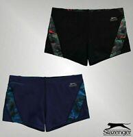 Boys Slazenger Curve Patterned Panel Boxer Swim Shorts Sizes from 7 to 13