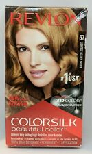 Revlon ColorSilk Permanent Hair Color #57 Lightest Golden Brown 1 Application