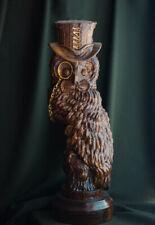"Carved sculpture ""Scientist Owl"""