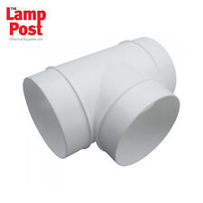 100mm 4 Inch PVC Ducting Tee Piece, T Piece for Fans