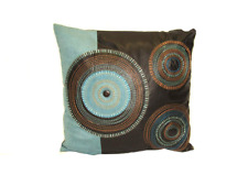 """Leather Circle Decorative Throw  Pillow Cushion Sofa / Bed - 16""""X16Inch"""