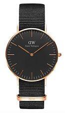 Daniel Wellington Watch * DW00100150 Classic Black Cornwall 36MM NATO