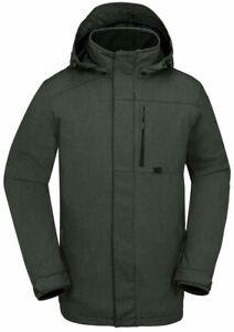 Volcom Jan Snowboard Jacket Men's Small Vintage Black / Gray New