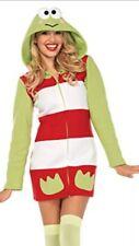 Nwt Leg Avenue Hot Topic Keroppi Cozy Hooded Dress Costume Adult M