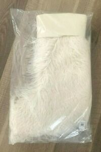 NWT Pottery Barn Mongolian Faux Fur IVORY Christmas stocking
