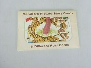 Complete Set of 8 Sambo Postcards, Picture Story Cards with Envelope