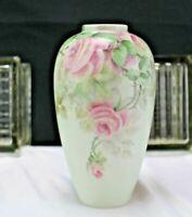 Vintage/Antique RS Germany Pink Rose Bud Vase 1920-1944 Blue Tillowitz Mark