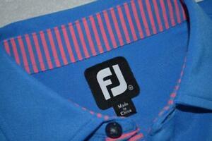 22762-a FootJoy GOLF Polo Shirt Size Medium Blue Polyester Mens