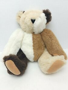 """Vermont 16"""" Teddy Bear Patchwork Multicolored Jointed Bear Misfit Rare"""