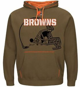 Cleveland Browns MENS Sweatshirt Pullover Hoody Seam Pass by Majestic