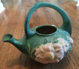 Vintage Roseville Green Peony Tea Pot NO Lid