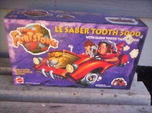 "The Flintstones (1993) Le Saber Tooth 5000 CAR [Mattel] NOS Ltd ""John Goodman"""