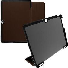 Cubierta de cuero artificial Huawei MediaPad M2 10.0 Tri-Fold marrón Case
