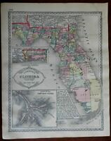 Florida County Map Eads Jetty System Florida Keys 1892 Tunison map