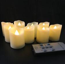 set of 9 wavy remote control tealight candle lamp w/timer Wedding Bar-Warm white
