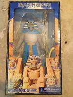 "Neca Iron Maiden Eddie Powerslave Pharaoh Clothed Retro Style 8"" Action Figure"