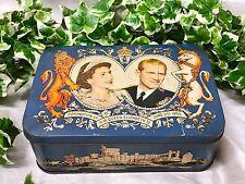 Vintage Queen Elizabeth II & Prince Philip Coronation Biscuit Tin Wright's