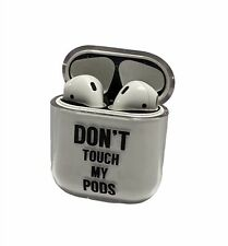 """Don't Touch My Pods"" Funny Clear Case Airpods 1 & 2 Protective Shockproof NEW"