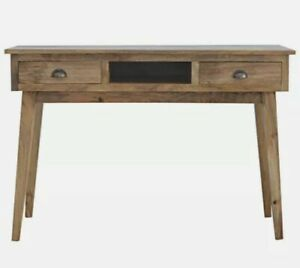Solid Wood Writing Desk With 2 Drawers Antique Style