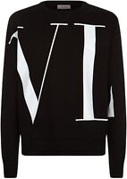 Valentino VLTN Maxi Logo Sweater Jumper Top Black