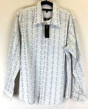 Jonathon Adams BNWT Men's Long Sleeved Shirt White with Black Pattern Size XL