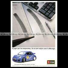 VW NEW BEETLE CUP RSI 2001 BBURAGO Burago - Pub Pubblicità French Advert #A444