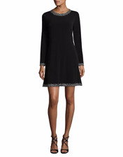 MICHAEL MICHAEL KORS Cheetah Crewneck Dress M