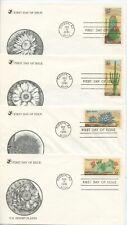 1981  FDC, U.S. DESERT PLANTS,  4 COVERS