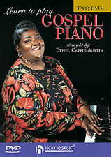 Learn To Play Gospel Piano DVD x 2 Ethel Caffie-Austin SPIRITUALS HYMNS SONGS