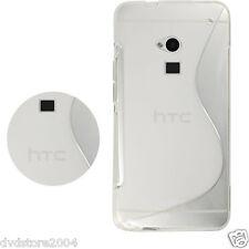 Pellicola + Custodia cover case WAVE CLEAR per HTC ONE MAX T6 Morbida Tpu Onda