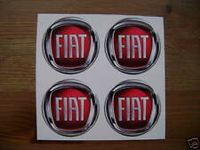 4x 45 mm fits fiat 500 cc wheel STICKERS center badge centre trim cap hub alloy