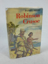 Daniel Defoe - ROBINSON CRUSOE - Illust'd by FRITZ KREDEL - 1945 HC/DJ